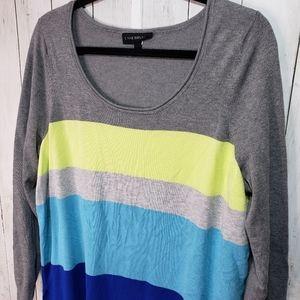 Lane Bryant Multi Color Block Sweater Size 18/20.